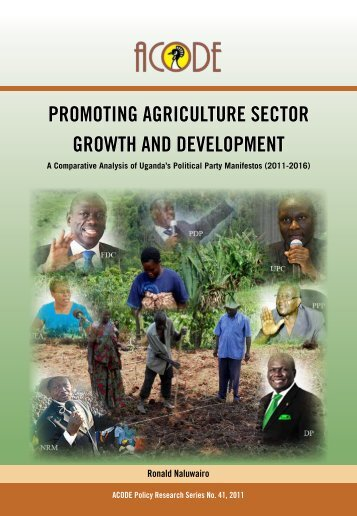 promoting agriculture sector growth and development - Advocates ...