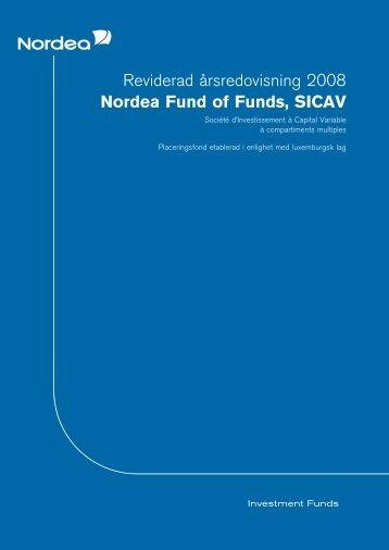 Reviderad a˚rsredovisning 2008 Nordea Fund of Funds, SICAV