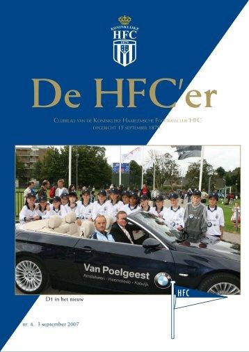nr. 4. 3 september 2007 D1 in het nieuw - Koninklijke HFC