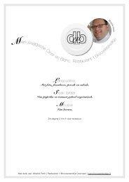 Klik hier voor recept Moshik Roth   Restaurant 't Brouwerskolkje (pdf)