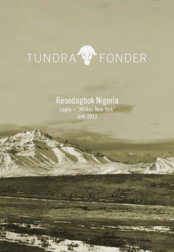 Reseberättelse Lagos - Tundra fonder