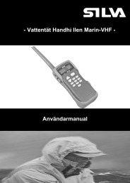 - Vattentät Handhå llen Marin-VHF - Användarmanual