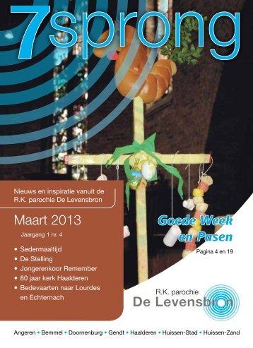 Maart 2013 Goede Week en Pasen - De Levensbron