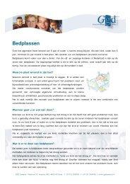 Bedplassen - GGD Zeeland
