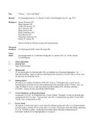 Referat Styregruppe møde d. 22. august 2011