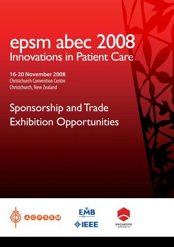 Sponsorship and Trade Exhibition Opportunities ... - the ACPSEM