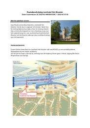Routebeschrijving Leerhotel Het Klooster