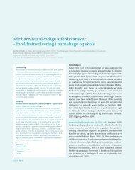 foreldreinvolvering i barnehage og skole - Utdanningsforbundet
