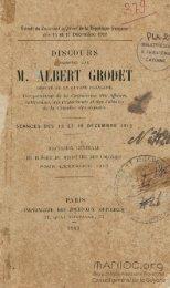 Discours prononcé par M. Albert Grodet, député de la ... - Manioc