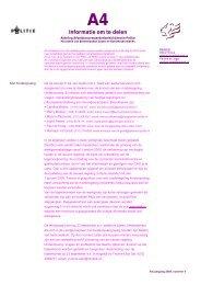 Informatie om te delen - Cao-politie