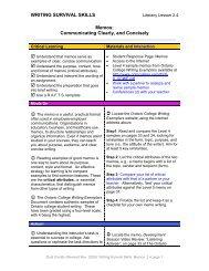 WRITING SURVIVAL SKILLS Memos: Communicating ... - EduGains