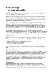 Partiprogram - Miljöpartiet de gröna