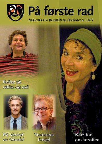 Medlemsblad nr - Teatrets Venner