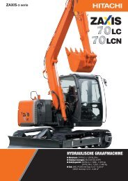 HYDRAULISCHE GRAAFMACHINE - Hitachi Construction Machinery