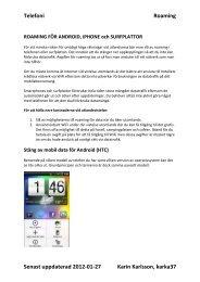 Telefoni Roaming Senast uppdaterad 2012-01-27 Karin Karlsson ...