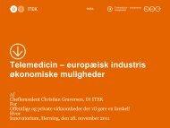 Telemedicin – europæisk industris økonomiske muligheder