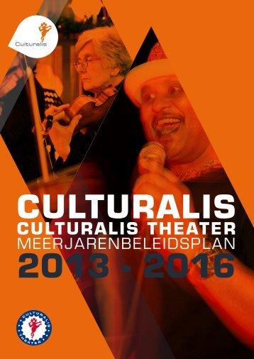 Culturalis Meerjarenbeleidsplan 2013 - 2016