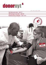 Donor Nyt 88 - Bloddonorerne i Danmark