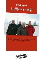 hållbar energi - Till hela sverige