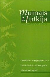 Untitled - Suomen arkeologinen seura ry.