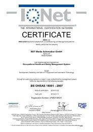 BS OHSAS 18001 - BDT