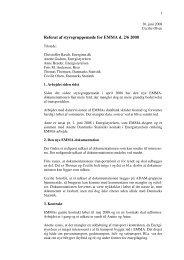 Referat af styregruppemøde for EMMA d. 2/6 2008 - Danmarks Statistik