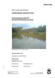 7b Utredning dagvatten Verksamhetsområdet.pdf - Nynäshamns ...
