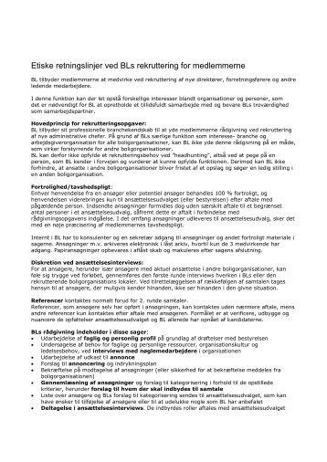 Se etiske retningslinjer i forbindelse med rekruttering