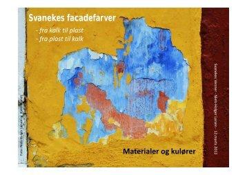 Svanekes facadefarver - KulturarvBornholm
