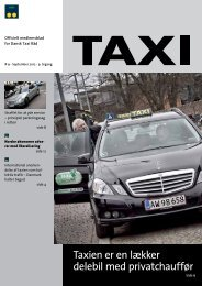 Taxien er en lækker delebil med privatchauffør - Dansk Taxi Råd