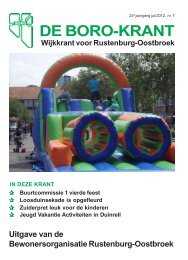 Wijkkrant juli 2012 - De Boro