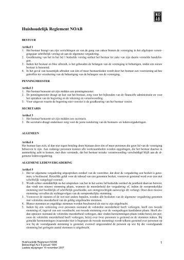 Huishoudelijk Reglement NOAB