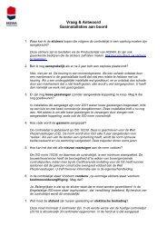 Vraag & Antwoord Gasinstallaties aan boord - Hiswa