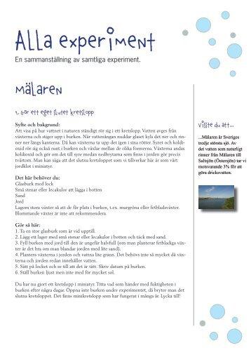 Ladda ner experiment - Stockholm Vatten