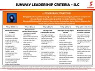sunway leadership criteria - slc - Sunway Group Announcement