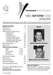 TBO INFORM 1|10 Januar - Turnverband Berner Oberland