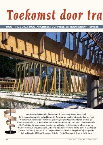 houtprijs 2003 - Van der Breggen Architecten