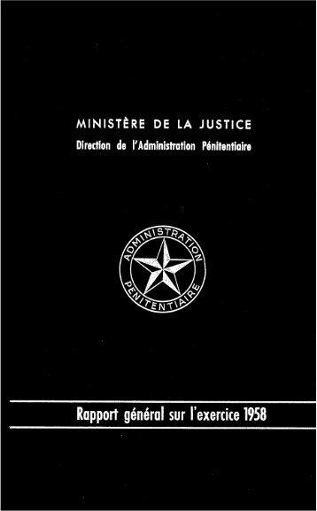 Rapport général sur l'exercice 1958