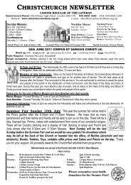 Newsletter 26th June 2011 - ChristChurch