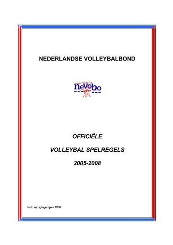 nederlandse volleybalbond officiële volleybal spelregels 2005-2008