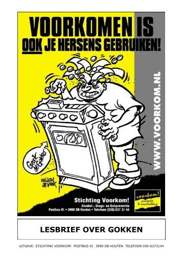 LESBRIEF OVER GOKKEN - Stichting Voorkom!