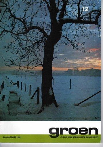 44e JAARGANG 1988 VAKBLAD VOOR GROEN IN ... - De Warande