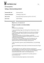 12 Översyn av beställar- och utförarmodellen 2012 ... - Västerås stad