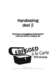 Handleiding Handleiding deel 2 - Erfgoed à la Carte Den Helder