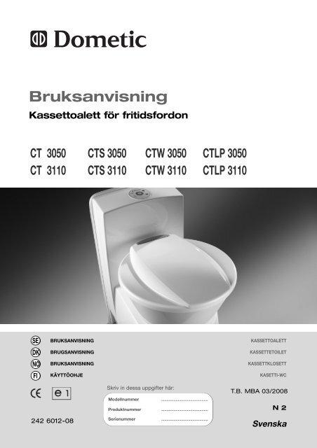 Manual - Kassettoalett CT 3000