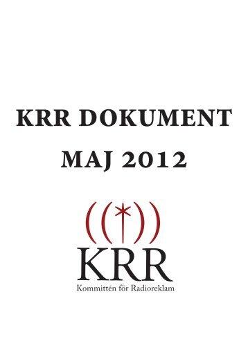 Kommittén för Radioreklam 2012 - Sveriges Annonsörer