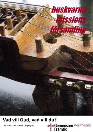 (Församlingsbladet Nr 1 2013, A5.pub) - Huskvarna Missionskyrka