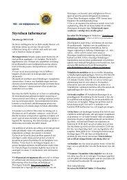Styrelsen informerar 20121202 - HSBs brf Städet 2 i Österåker