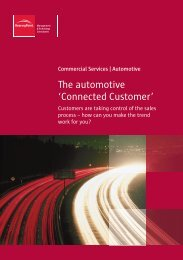 The automotive 'Connected Customer' - BearingPoint