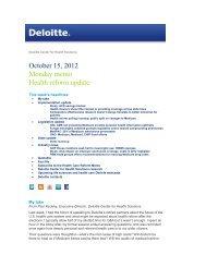 Read the Full Health Reform Memo, October 15, 2012